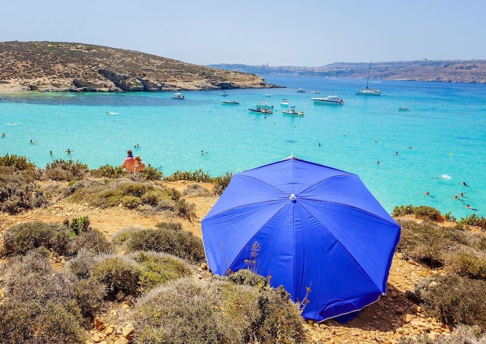 The beautiful water of the Blue Lagoon in Malta