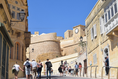 The entrance of the Citadel in Victoria, Gozo.